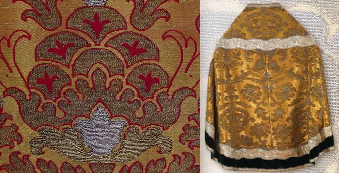 Аксамит использовался для церковного одеяния