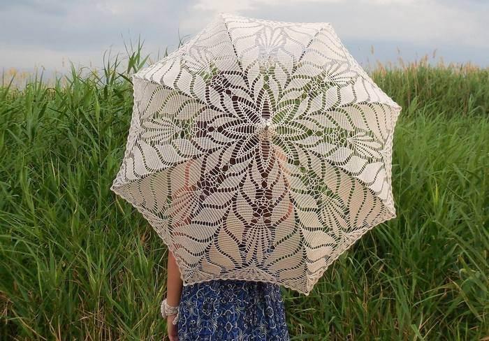 Ажурный зонт от солнца