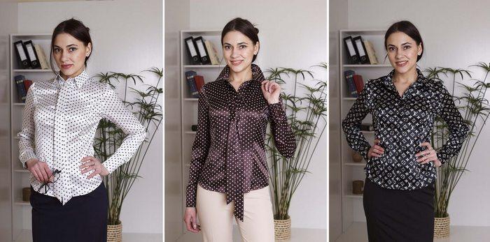 Блузы из глянцевой ткани