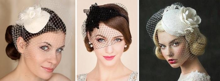 Дамские шляпки с вуалью