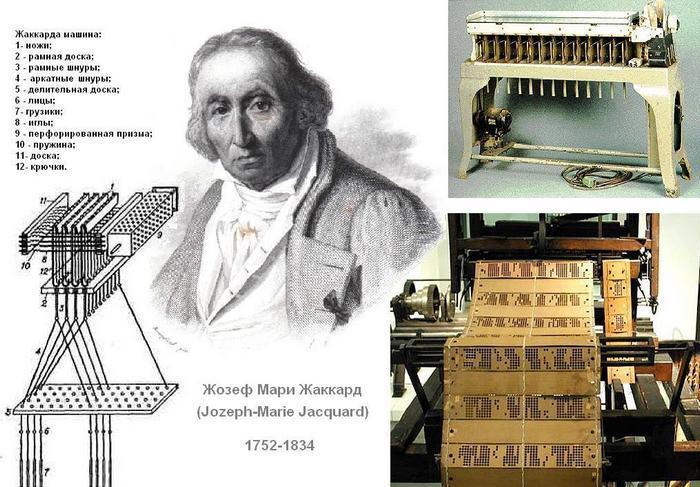 Француз Жозеф Жаккард придумал первый ткацкий станок