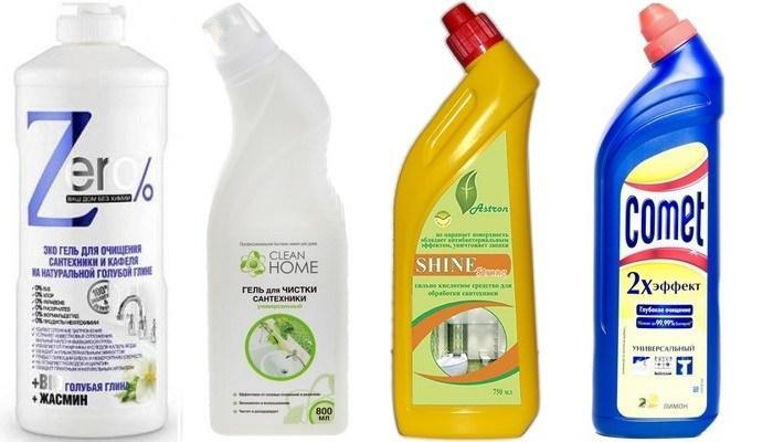 Гели для чистки сантехники