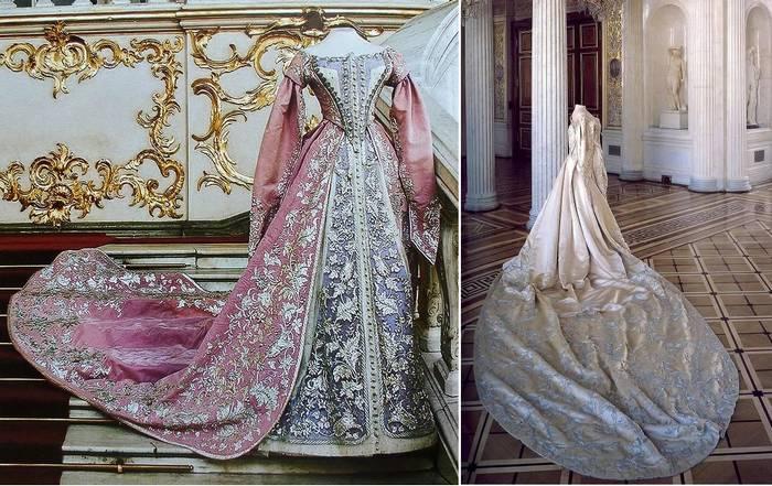 Утяжеленные переливающиеся наряды пришли из эпохи императоров и королей