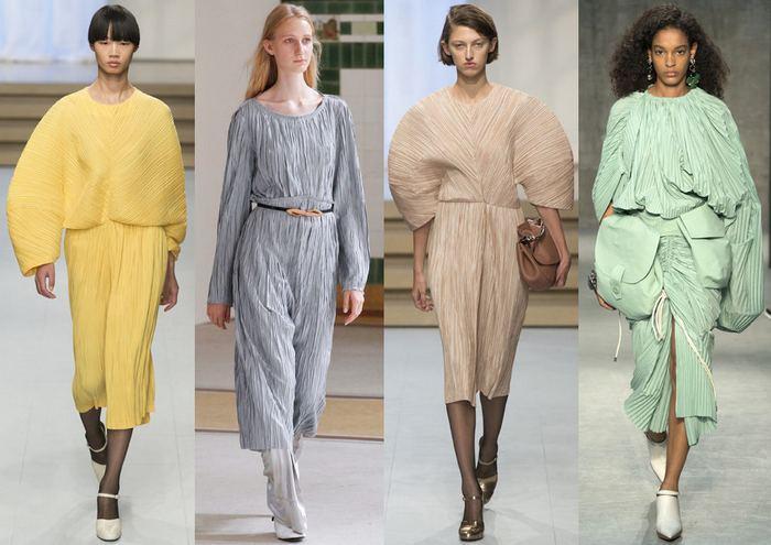 Гофре и крэш — главные модные ткани сезона