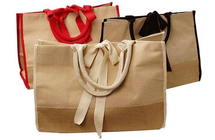 Эко сумки из джутовой ткани