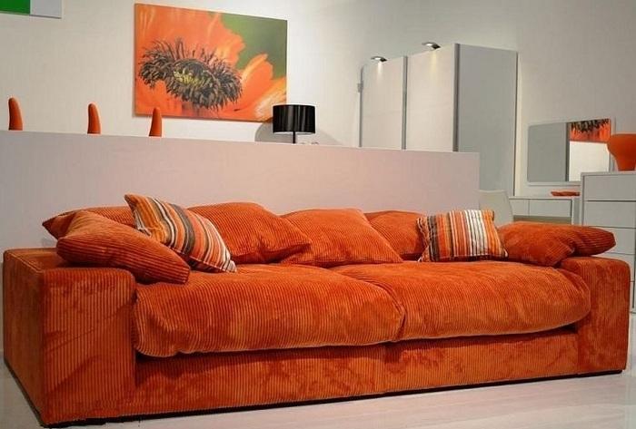 Обивка дивана из вельвета