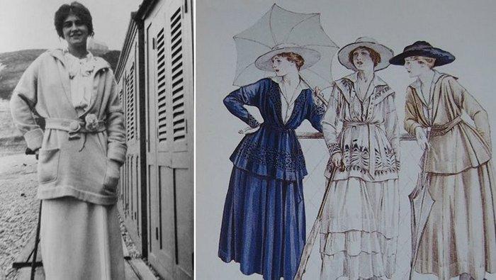 Первая коллекция трикотажа Коко Шанель из джерси