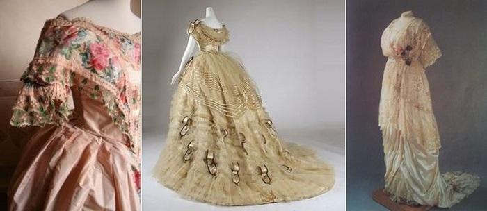 Платья из газовых тканей 19 столетия