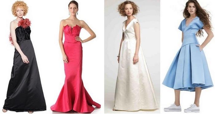 Платья из ткани дюшес