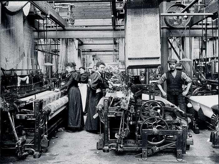 Производство ткани деворе