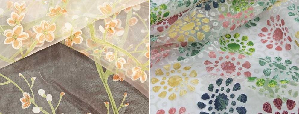Тюли из ткани в технике деворе