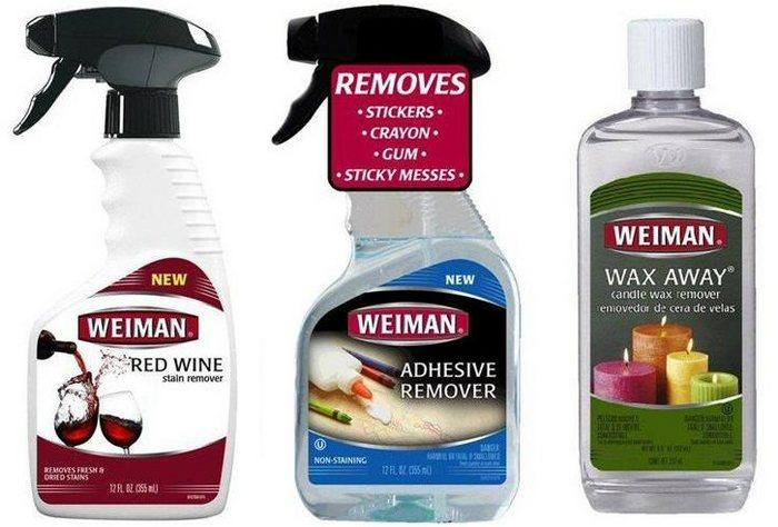 Weiman - специальные средства для удаления пятен