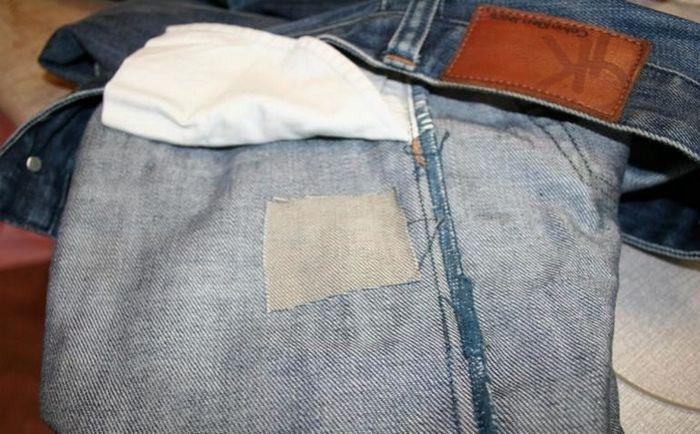 Заплатка на штаны из дублерина