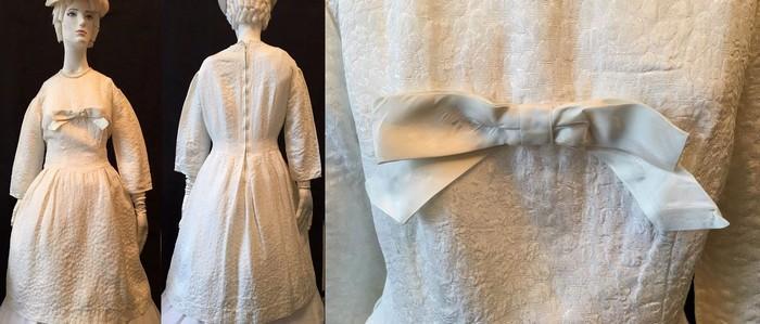 Женское платье 1950 год. Ткань жатка