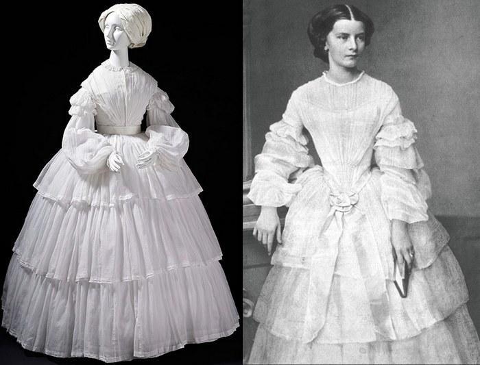 Французы и итальянцы первыми из европейцев начали шить пышные платья из муслина