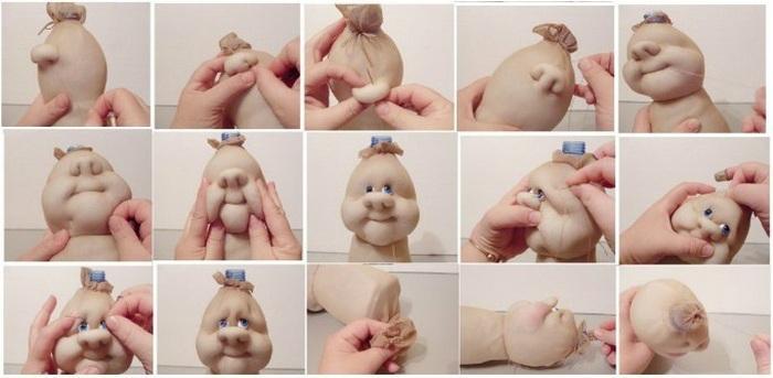 Кукла из капрона - пошаговая инструкция