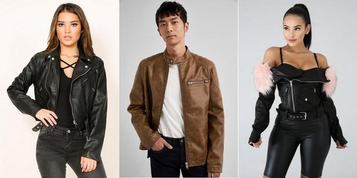 Куртки из кожзама