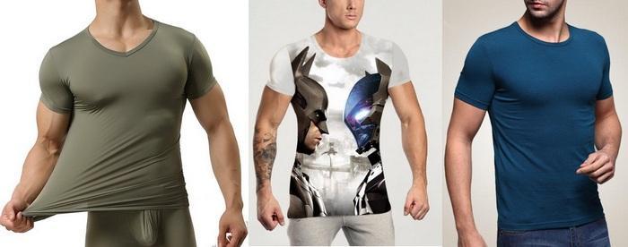 Мужские футболки с лайкрой