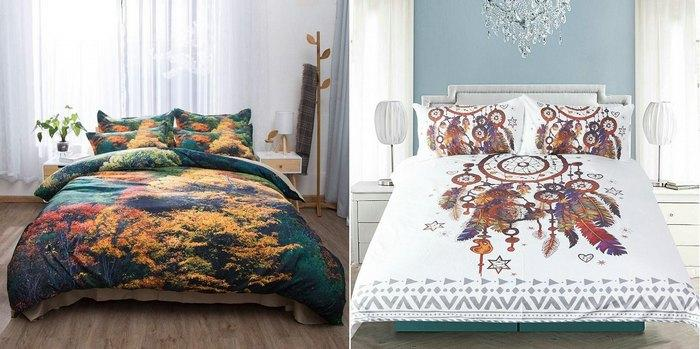Набивные рисунки на постельном белье