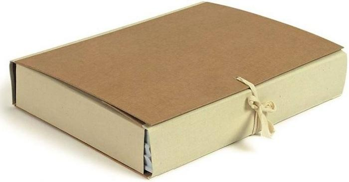 Папка архивная крафт, коленкор