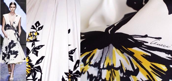 Платье из репса шелкового, GUCCI