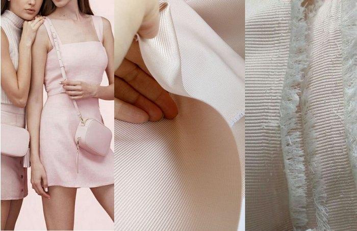 Платье из репса шелкового, бледно-розовое
