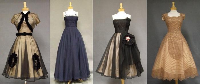 Платья из маркизета 1950-х годов