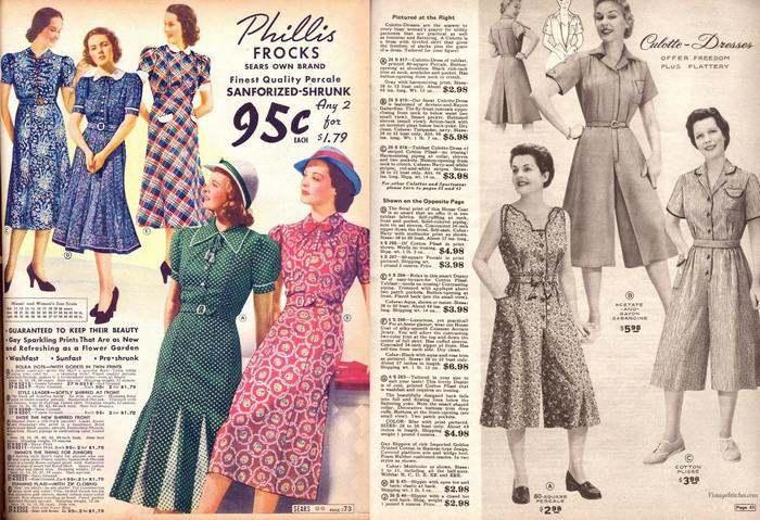 Платья из перкаля были популярны в 50-х годах 20 столетия