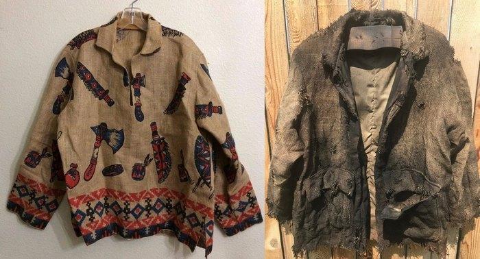 Стилизованная одежда из мешковины