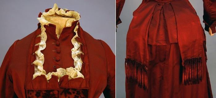 Визитное платье из репса и бархата