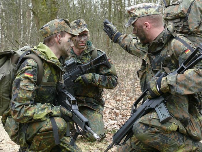 Военная униформа Бундесвер из ткани молескин