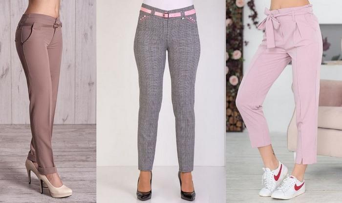 Женские брюки из ткани тиар