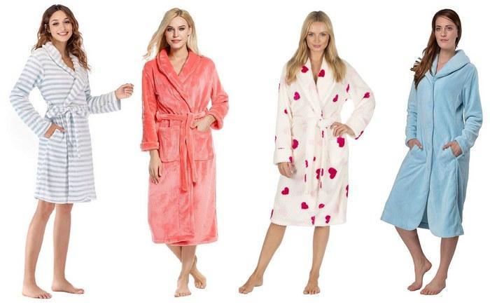 Женские халаты из микрофибры