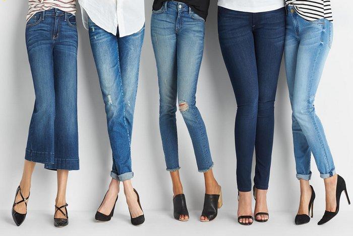 Женские штаны из джинсовой ткани