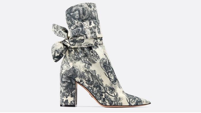 Ботильоны Dior Huggy, ткань туаль-де-жуи