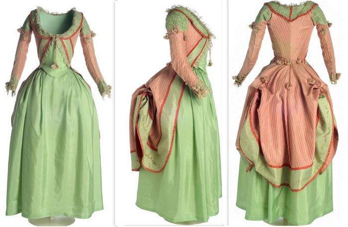 Историческая одежда, 1775-1785. Шелковая Тафта