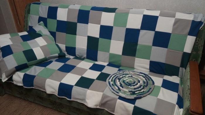 Кримплен - материал для лоскутного шитья покрывал, ковриков