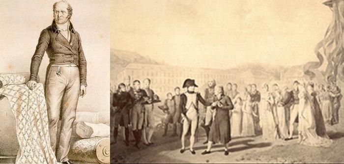 Кристоф-Филипп Оберкампф получает знак почётного легиона от Наполеона