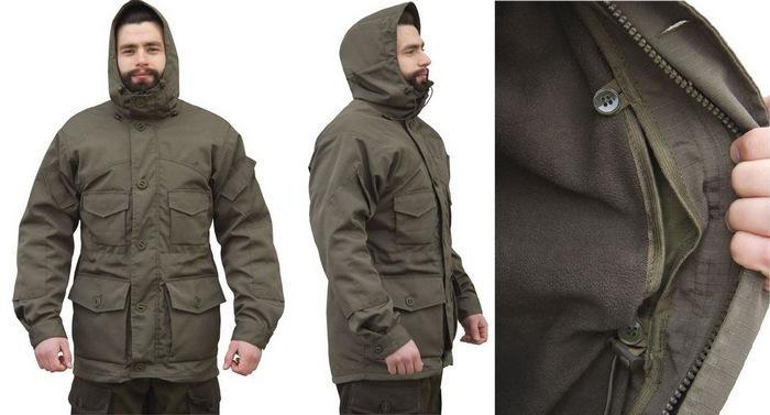 Куртка сталкер, утепленная поларфлисом