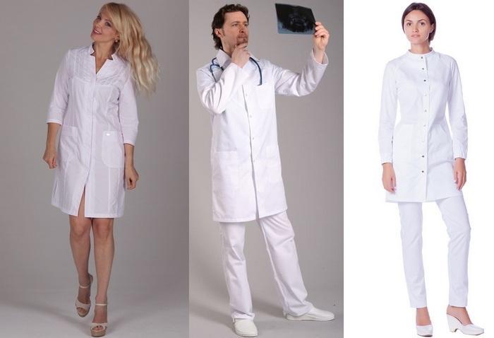 Медицинские халаты из материалов лайт