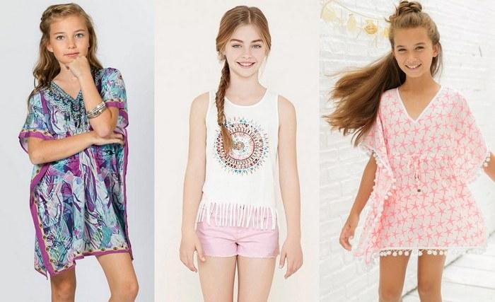 Модная летняя одежда для девочек 10-12 лет, фото