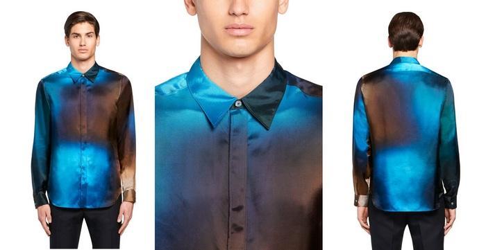 Мужская рубашка с эффектом деграде