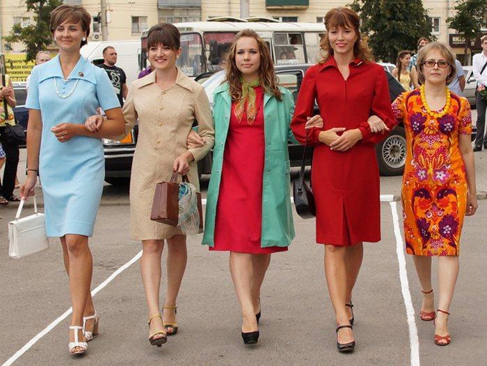 Платья из кримплена 70-х годов СССР