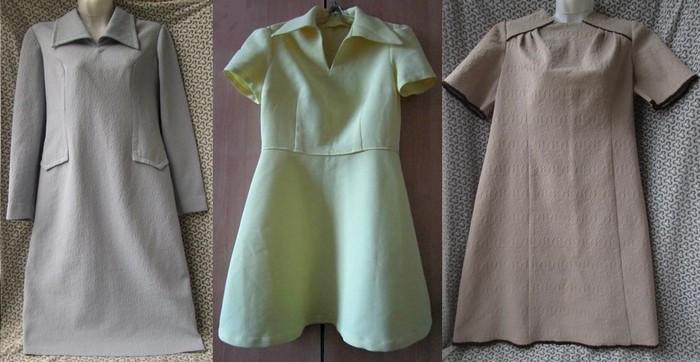 Платья из кримплена винтаж 70-е г.г