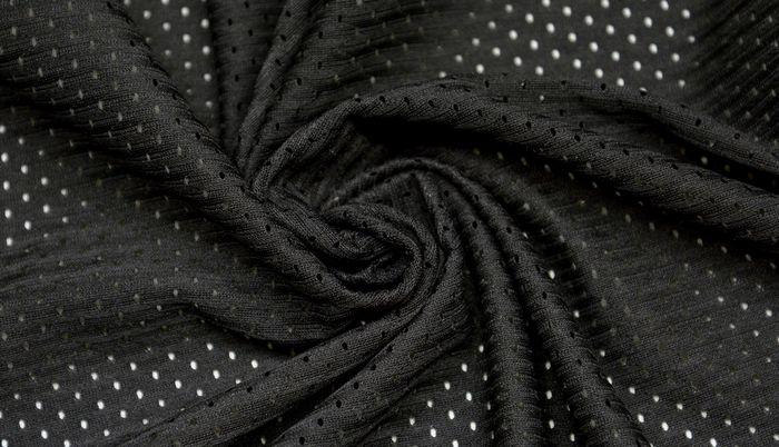 Ткань сетка-стрейч черная