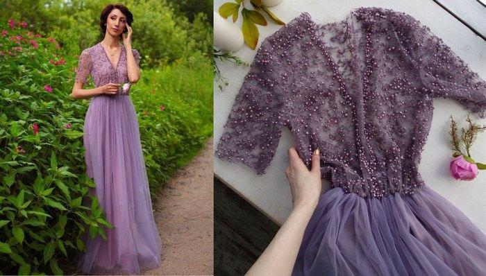Вечернее платье материал: шелк, фатин, еврофатин