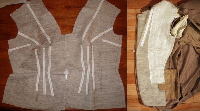 Бортовка применяется для уплотнения деталей верхней одежды