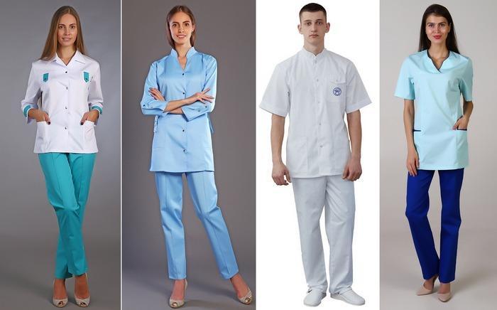 Медицинские костюмы из ткани сатори