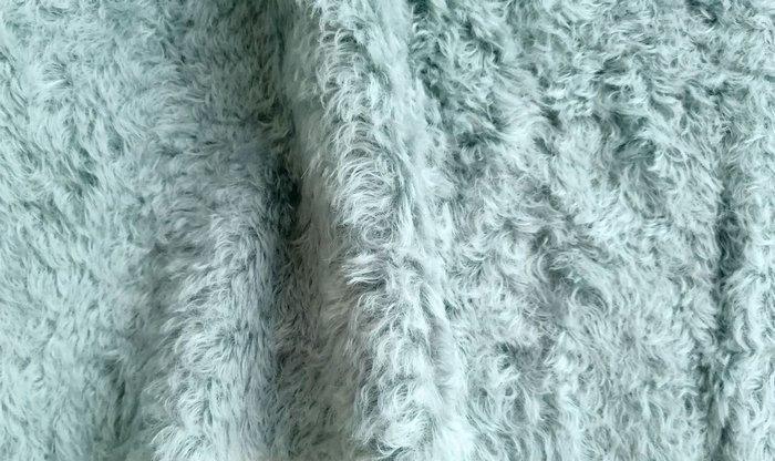 Мохер 20 мм серо-голубого цвета