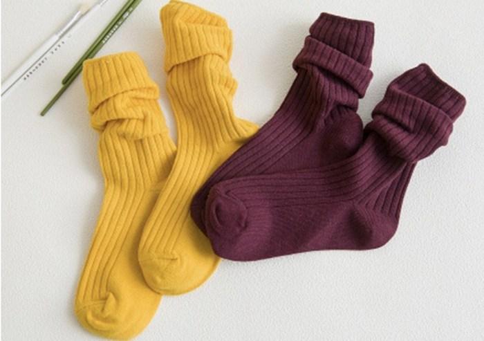 Носки в рубчик